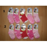 AURA.VIA dívčí kojenecké ponožky  vel. 12-24 měsíců / 5ks