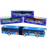 Autobus kovový 18cm kloubový městský