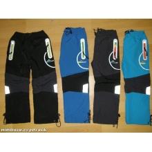 KUGO H0102 Zateplené šusťákové kalhoty podšité fleesem