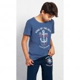 Dětské pyžamo kapri Velká kotva modré