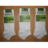 AURA.VIA NND836 dámské kotníkové bambusové ponožky bílé