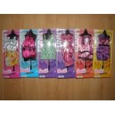 Šaty / šatičky pro panenky typu barbie 6ks