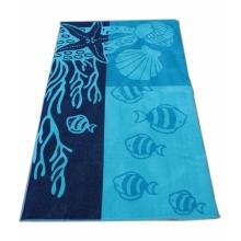 POLÁŠEK HOLEŠOV Plážová osuška modrá s rybičkama 100x160