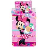 Povlečení Minnie Bows and flowers 140/200 70/90