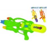 Pistole vodní barevná 45cm se zásobníkem na vodu