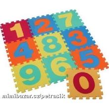 Pěnové puzzle / koberec - měkké bloky čísla