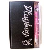 Zápisník Playboy Diamonds black slim