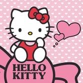 Magický ručníček Hello Kitty srdíčka 30/30