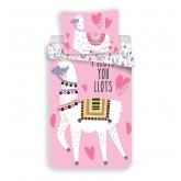 JERRY FABRICS Povlečení Lama pink  Bavlna, 140/200, 70/90 cm