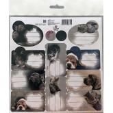 BENIAMIN Samolepící jmenovky Sweet Pets Papír, 20x20 cm