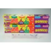 Play-Doh modelína 4pack + BONUS 2 PACK
