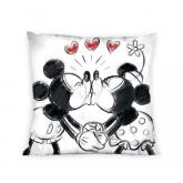 FARO Povlak na polštářek Mickey a Minnie láska  Bavlna, 40/40 cm