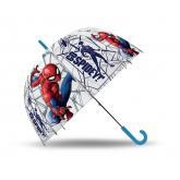 EUROSWAN Vystřelovací průhledný deštník Spiderman Go POE, průměr 70 cm