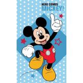 DETEXPOL Dětský ručník Mickey hvězdičky  Bavlna - Froté, 50/30 cm