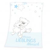 HERDING Micropolar fleece deka Miláček modrá  Polyester, 75/100 cm