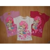 Dívčí tričko s krátkým rukávem Jahůdka 960-620 vel. 98-128