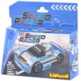 LiNooS Auto sportovní volný chod 46 dílků plast STAVEBNICE