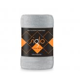 FARO Deka mikroplyš super soft světle šedá  Polyester, 220/200 cm