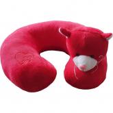 Cestovní polštářek Kočka červená
