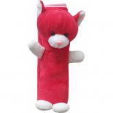 Polstrování bezpečnostního pásu Kočka červeno-bílá