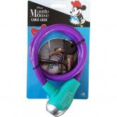 Zámek na kolo lankový Minnie