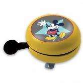 Kovový retro zvonek na kolo Mickey yellow