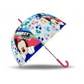 EUROSWAN Vystřelovací průhledný deštník Mickey POE, průměr 70 cm