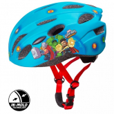 SEVEN Dětská cyklo přilba in mold Avengers modrá , vel. M, 52-56 cm