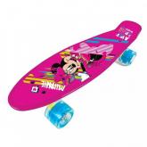 SEVEN Skateboard fishboard Minnie pink PP tvrzený polypropylen, 1x 55x14,5x9,5 cm