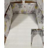 SDS Mantinel do postýlky Medvídci šedá  Bavlna, výplň: Polyester, 195/28 cm