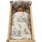 SDS Peřinky do postýlky pro panenky Hrošíci baby Bavlna, výplň: Polyester, 1x 38x44 cm / 28x20 cm
