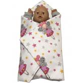 SDS Rychlozavinovačka pro panenky Víly bílá Bavlna, výplň: Polyester, 1x 60x60 cm