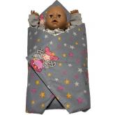 SDS Rychlozavinovačka pro panenky Víly šedá Bavlna, výplň: Polyester, 1x 60x60 cm