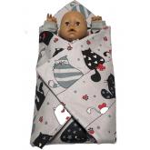 SDS Rychlozavinovačka pro panenky Veselé kočky Bavlna, výplň: Polyester, 1x 60x60 cm