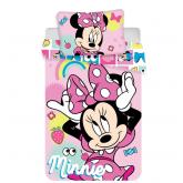 JERRY FABRICS Povlečení do postýlky Minnie pink square baby  Bavlna, 100/135, 40/60 cm
