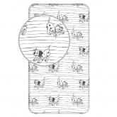 JERRY FABRICS Prostěradlo 101 Dalmatinů Lucky stripe Bavlna, 90/200 cm