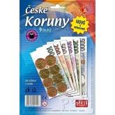ČESKÉ KORUNY s mincemi - peníze do hry