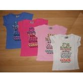 Divčí tričko s krátkým rukávem ARTENA 128-164