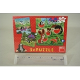 Puzzle Krtek a paraplíčko 3x55