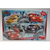 Puzzle Cars na ledě 4x54 dílků